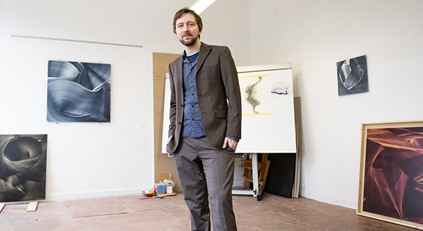 Christoph Schrein in his studio