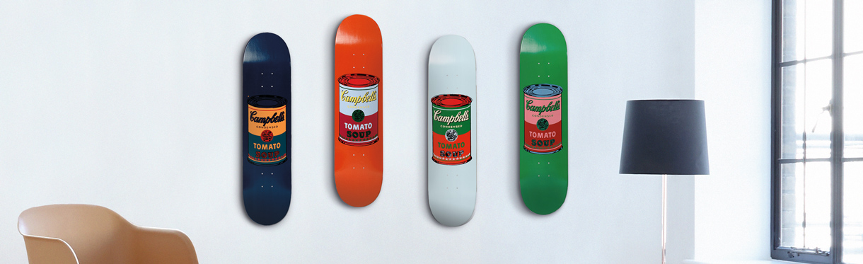 Colored Campbell's Soup Cans by Andy Warhol