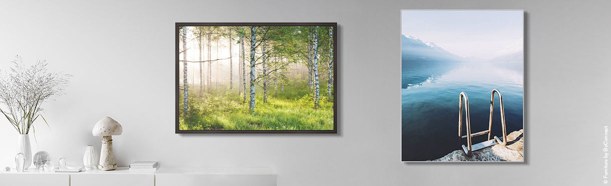 Nature Prints: Birkenwald 5 by André Wagner, Brienzersee by Rafael Graf