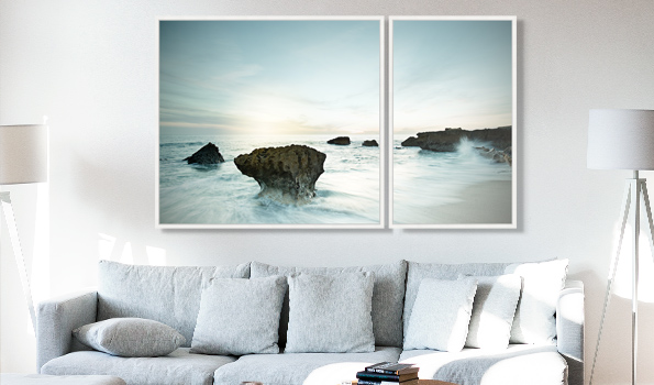 A Wolfgang Uhlig Seescape Diptych