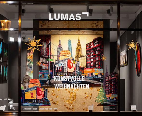 Les vitrines de Noël de nos galeries, création de Sandra Rauch