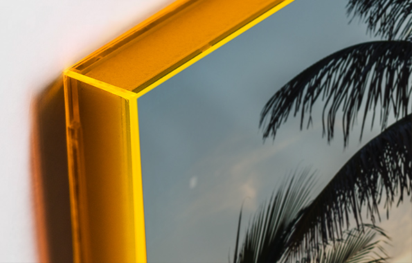 framed wall art prints: Close-up of the Neon Acrylic Frame