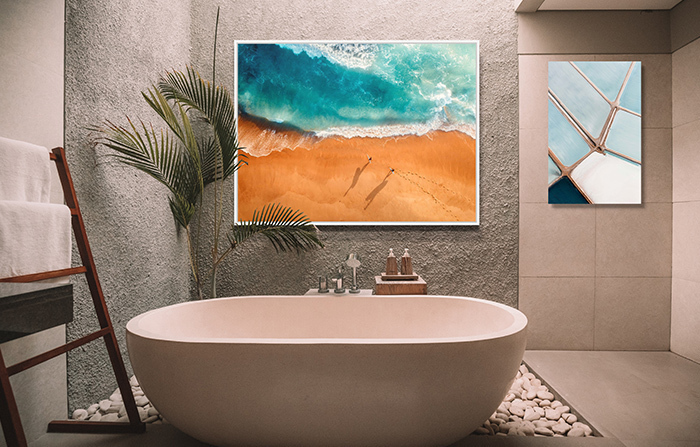 Bathroom Art: Two Surfers by Peter Yan