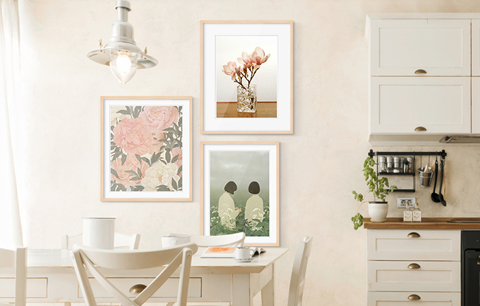 Kitchen Wall Art: Framed works by Jiwoon Pak