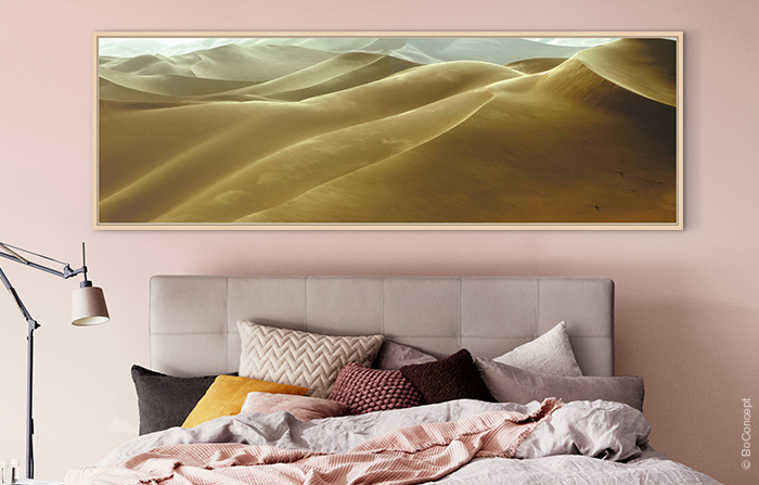 Bedroom art with good Feng Shui