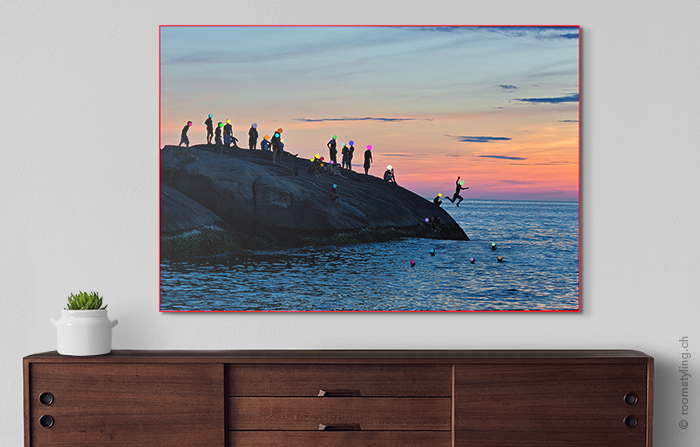 Arpoador Rock by Rogério Reis on a living room wall