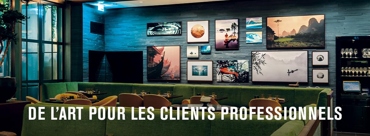 De l'art pour les clients professionnels