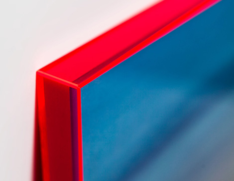 A close-up of the luminous frame