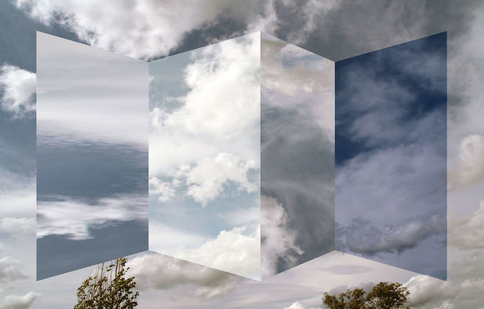 Abstract artwork: Polyptych of clouds by Antonio Rojas