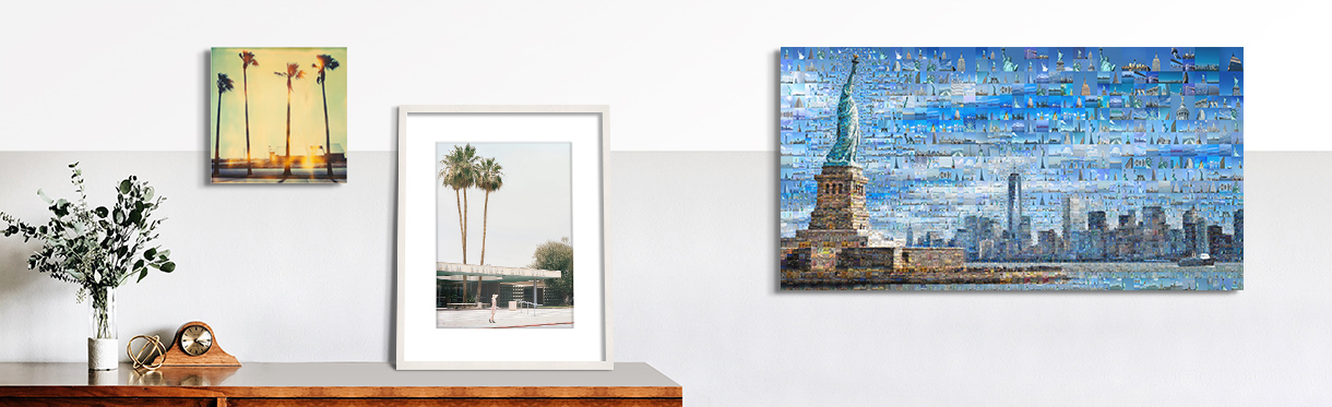 Americana Artworks by Stefanie Schneider, Stephanie Kloss, and Charis Tsevis on a Home Wall