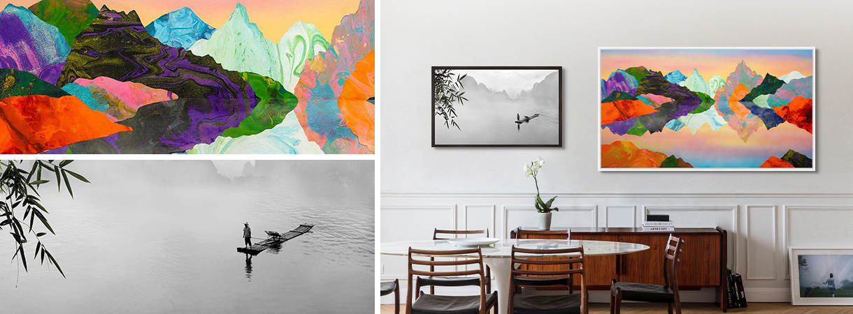 Photographic art by Tommy Clarke on a gallery wall