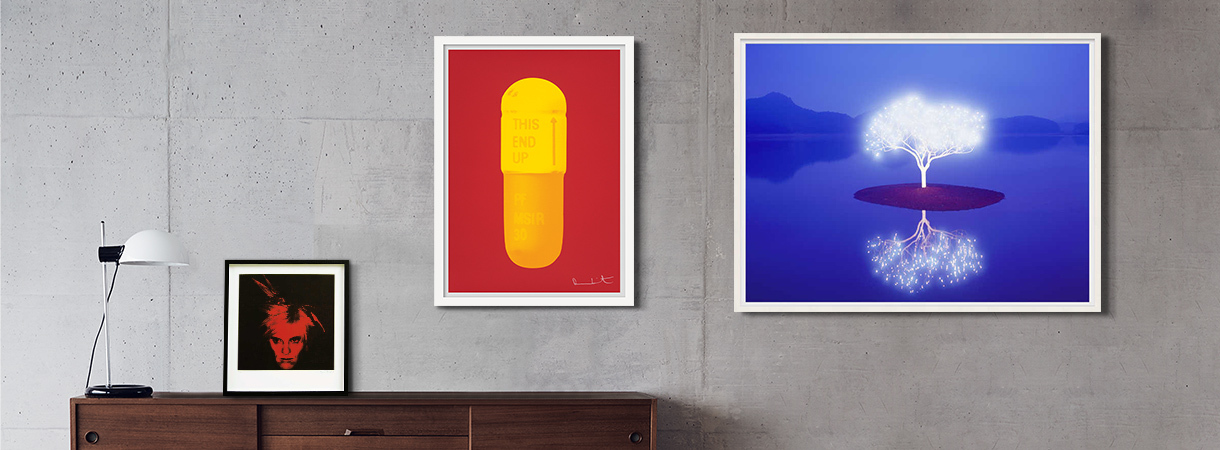 Fine art prints by Damien Hirst and Lee Jeonglok