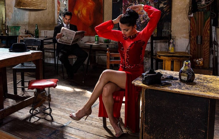 Tango - Woman in the Red Dress I by Christopher Pillitz