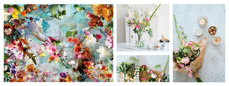 Abbildungen: Isabelle Menin Etude pour un apres midi 02; Blumensträuße von Bloem