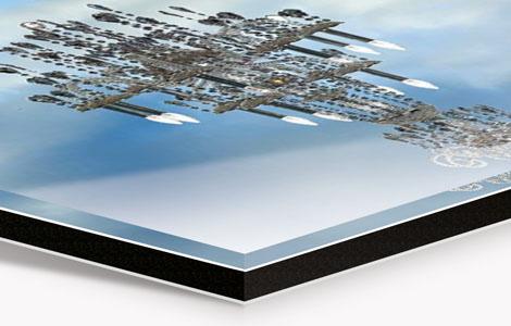 Fotografie auf Alu-Dibond laminiert und unter Acrylglas kaschiert