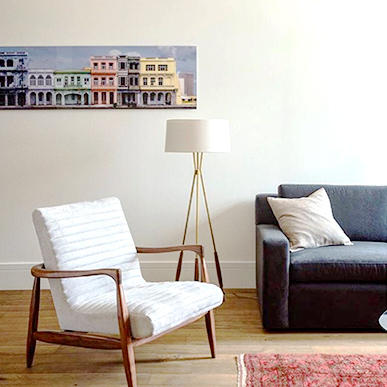 Photo artwork by Larry Yust on a living room wall