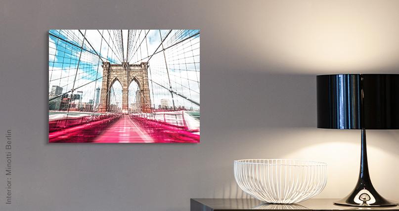 Johannes Weinsheimer: Brooklyn Bridge in Red