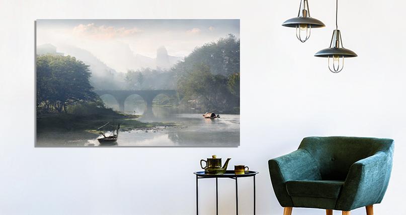 Vladimir Proshin: Morning on the river