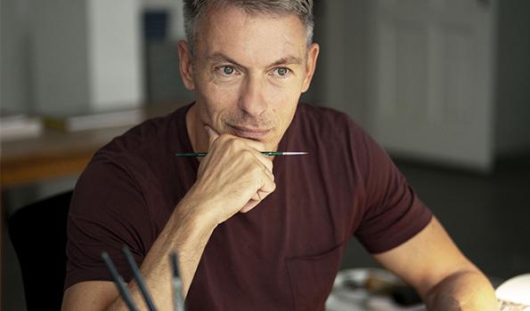 Der Künstler Olaf Hajek