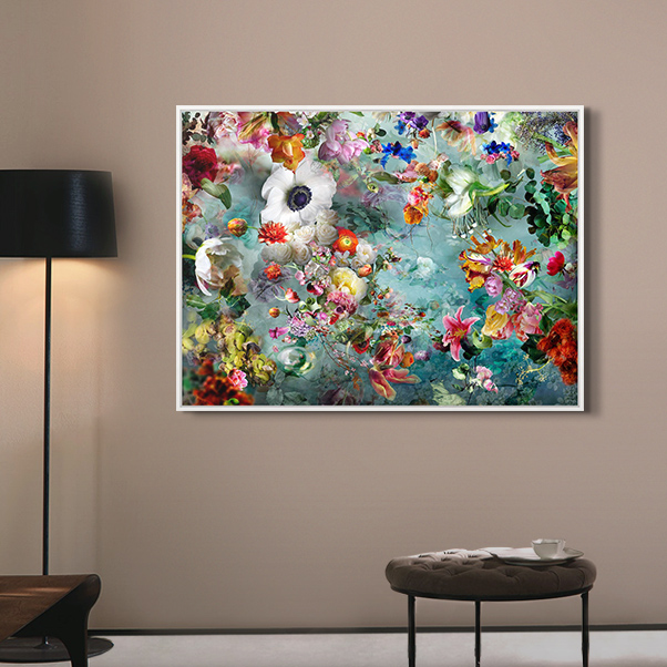 Framed Abstract Art Print by Isabelle Menin